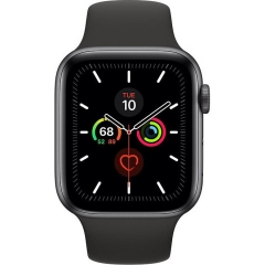 Apple Watch Series 5 LTE 44mm Space Gray Aluminum w. Black b.- Space Gray Aluminum (MWW12)