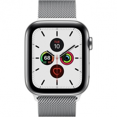 Apple Watch Series 5 LTE 44mm Steel w. Steel Milanese Loop - Steel (MWW32)