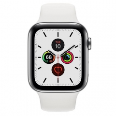 Apple Watch Series 5 LTE 44mm Steel w. White b.- Steel (MWW22)