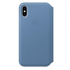 Apple iPhone XS Leather Folio - Cornflower (MVFD2)