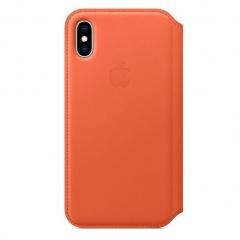 Apple iPhone XS Leather Folio - Sunset (MVFC2)