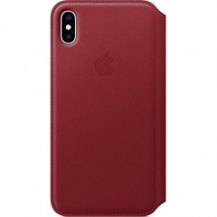 Apple iPhone XS Max Leather Folio - PRODUCT RED (MRX32)