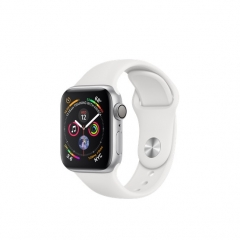 Apple Watch Series 4 GPS 40mm Silver Alum. w. White Sport b. Silver Alum. (MU642)