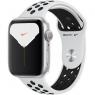 Apple Watch Nike Series 5 GPS 44mm Silver Aluminum w. Silver Aluminum (MX3V2)