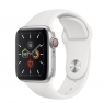 Apple Watch Series 5 GPS + LTE 40mm Silver Case w. White Sport Band (MWWN2)