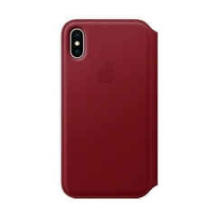 Apple iPhone X Leather Folio - (PRODUCT)RED (MRQD2)