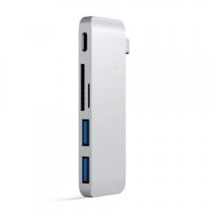 Satechi Type-C USB 3.0 Pass-through Hub Silver (ST-TCUPS)
