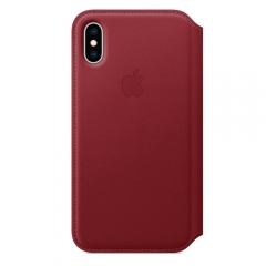 Apple iPhone XS Leather Folio - PRODUCT RED (MRWX2)