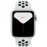 Apple Watch Series 5 GPS + LTE 40mm Silver Aluminium w. Pure Platinum/Black Nike Sport Band (MX372)