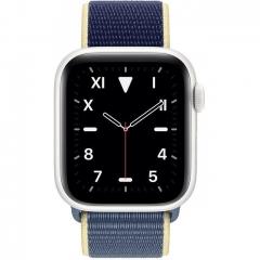 Apple Watch Series 5 LTE 40mm White Ceramic w. Alaskan Blue Sport l. (MX5V2)