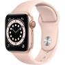 Apple Watch Series 6 GPS + Cellular 40mm Gold Aluminum Case w. Pink Sand Sport B. (M02P3/M06N3)