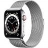 Apple Watch Series 6 GPS + Cellular 44mm Silver Stainless Steel Case w. Silver Milanese L. (M07M3/M09E3)