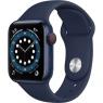 Apple Watch Series 6 GPS + Cellular 40mm Blue Aluminum Case w. Deep Navy Sport B. (M02R3/M06Q3)