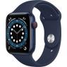Apple Watch Series 6 GPS + Cellular 44mm Blue Aluminum Case w. Deep Navy Sport B. (M07J3/M09A3)