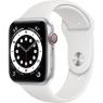 Apple Watch Series 6 GPS + Cellular 44mm Silver Aluminum Case w. White Sport B. (M07F3/MG2C3)