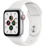 Apple Watch SE GPS + Cellular 40mm Silver Aluminum Case with White Sport B. (MYE82/MYEF2)
