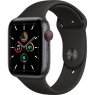 Apple Watch SE GPS + Cellular 44mm Space Gray Aluminum Case with Black Sport B. (MYER2/MYF02)