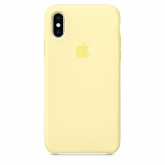 Apple iPhone XS Silicone Case - Mellow Yellow (MUJV2)