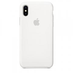 Apple iPhone XS Silicone Case - White (MRW82)