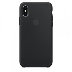 Apple iPhone XS Silicone Case - Black (MRW72)