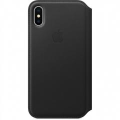Apple iPhone XS Max Leather Folio - Black (MRX22)