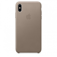 Apple iPhone XS Leather Case - Taupe (MRWL2)