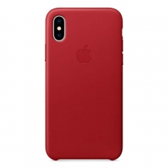 Apple iPhone XS Max Leather Case - (PRODUCT)RED (MRWQ2)