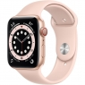 Apple Watch Series 6 GPS + Cellular 44mm Gold Aluminum Case with Pink Sand Sport Band (M07G3/MG2D3)