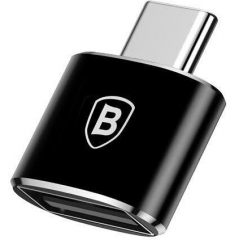 Baseus USB Female To Type-C Male Adapter Converter Black (CATOTG-01)