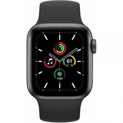 Apple Watch SE GPS + Cellular 40mm Space Gray Aluminum Case with Black Sport B. (MYED2/MYEK2)