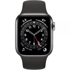 Apple Watch Series 6 GPS + Cellular 40mm Graphite Stainless Steel Case w. Black Sport B. (M02Y3/M06X3)
