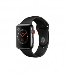 Apple Watch 42mm Series 3 Cellular Space Black Stainless Steel w. Black Sport b. (MQM02)