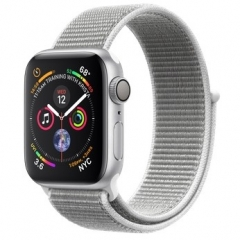Apple Watch Series 4 GPS 40mm Silver Alum. w. Seashell Sport l. Silver Alum. (MU652)