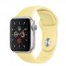 Apple Watch Series 5 (GPS) 44mm Silver Aluminum Case with Lemon Cream (MWT32)