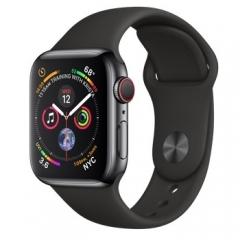 Apple Watch Series 4 GPS + LTE 40mm Black Steel w. Black Sport b. Black Steel (MTUN2)