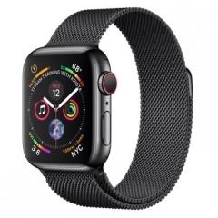 Apple Watch Series 4 GPS + LTE 40mm Black Steel w. Black Milanese l. Black Steel (MTUQ2)