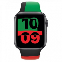 Apple Watch Series 6 GPS + Cellular 44mm Black Unity Aluminum Case with Sport Band (MJ6T3/MJ6U3)