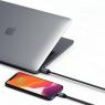 Satechi USB Type-C - Lightning 1.8 m Space Gray (ST-TCL18M)
