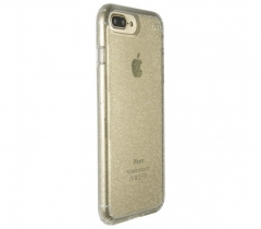 Speck for Apple iPhone 8/7/6S/6 Plus Presidio Clear + Glitter - Clear With Gold Glitter/Clear