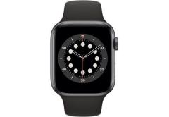 Apple Watch Series 6 GPS + Cellular 44mm Space Gray Aluminum Case w. Black Sport B. (M07H3/MG2E3)