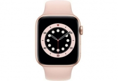 Apple Watch Series 6 GPS + Cellular 40mm Gold Aluminum Case w. Pink Sand Sport B. (M02P3/M06N3)