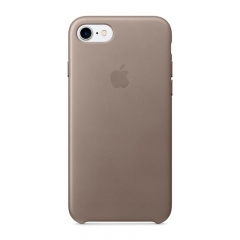 Apple iPhone 7 Leather Case - Taupe (MPT62)