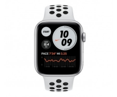 Apple Watch Nike SE GPS + Cellular 44mm Silver Aluminum Case w. Pure Platinum/Black Nike Sport B. (MG043/MG083)