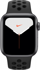 Apple Watch Nike Series 5 40mm GPS + Cellular Space Gray Aluminum Case with Anthracite/Black Nike Sport Band (MX382)
