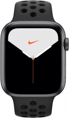Apple Watch Series 5 GPS + LTE 44mm Space Gray Aluminum w. Anthracite/Black Nike Sport Band (MX3A2)