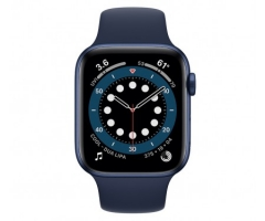 Apple Watch Series 6 GPS + Cellular 44mm Blue Aluminum Case w. Deep Navy Sport B. (M07J3/M09A3)