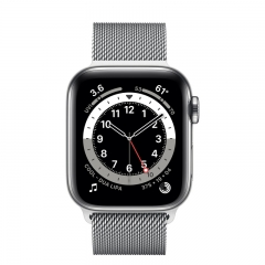 Apple Watch Series 6 GPS + Cellular 40mm Silver Stainless Steel Case w. Silver Milanese L. (M02V3/M06U3)