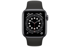 Apple Watch Series 6 GPS + Cellular 40mm Space Gray Aluminum Case w. Black Sport B. (M02Q3/M06P3)