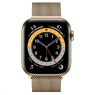 Apple Watch Series 6 GPS + Cellular 44mm Gold Stainless Steel Case w. Gold Milanese L. (M07P3/M09G3)