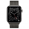 Apple Watch Series 6 GPS + Cellular 44mm Graphite Stainless Steel Case w. Graphite Milanese L. (M07R3/M09J3)